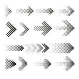 Поставленный точки комплект вектора стрелок полутонового изображения бесплатная иллюстрация