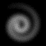 Поставленный точки конспектом круг полутонового изображения Стоковая Фотография RF