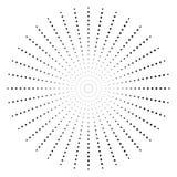 Поставленный точки радиальный элемент Круг, круговая форма картины иллюстрация штока
