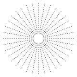 Поставленный точки радиальный элемент Круг, круговая форма картины иллюстрация вектора