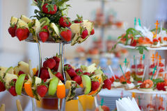 Поставлять еду для wedding Стоковая Фотография