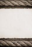 Постаретая бумага на джинсах Стоковое фото RF