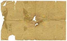 постаретая бумага письма Стоковые Фотографии RF