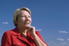 постаретая возмужалая женщина портрета Стоковые Фото