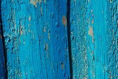 Постаретая выдержанная предпосылка голубой текстуры двери деревянной среднеземноморская Стоковое Фото