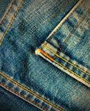 Постаретая голубая джинсовая ткань Стоковое фото RF
