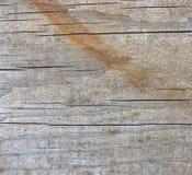 Постаретая деревянная поверхность с некоторой коричневой краской Стоковое Изображение