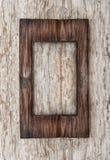Постаретая деревянная рамка на старой древесине Стоковое Изображение RF