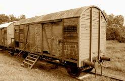 постаретая железная дорога автомобиля Стоковые Фотографии RF
