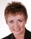 постаретая женщина изолированная делом средняя белая Стоковые Фотографии RF
