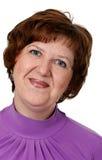 постаретая женщина портрета крупного плана средняя стоковое изображение