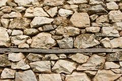 постаретая каменная стена Стоковые Изображения RF