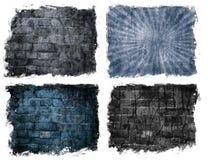 Постаретая кирпичная стена Стоковые Изображения