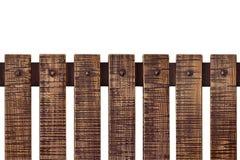 Постаретая поцарапанная деревянная загородка планки изолированная на белизне Деревенская винтажная предпосылка Объект с путем кли стоковая фотография