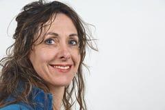 постаретая привлекательная средняя женщина Стоковые Фото