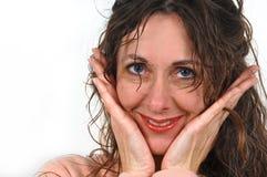 постаретая привлекательная средняя женщина Стоковая Фотография
