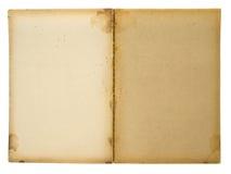 постаретая раскрытая книга Стоковое Фото