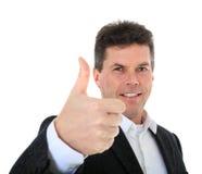 постаретая середина человека показывая большие пальцы руки вверх Стоковые Фото