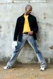 постаретая середина чернокожего человек Стоковое Изображение RF