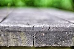 Постаретая серым цветом предпосылка деревянных доск Стоковые Изображения RF