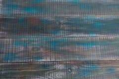 Постаретая синь wodden plank1 Стоковое Изображение