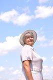 постаретая средняя женщина Стоковые Изображения RF