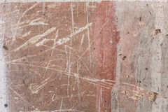 Постаретая старой красной белой серой предпосылка кирпичной стены разрушенная текстурой конкретная горизонтальная Затрапезное гор Стоковое Фото