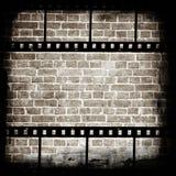 постаретая стена прокладки пленки кирпича Стоковое Фото