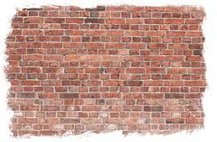 постаретая стена текстуры кирпича Стоковые Фотографии RF