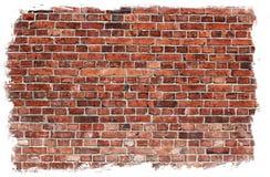 постаретая стена текстуры кирпича Стоковые Изображения