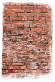 постаретая стена текстуры кирпича Стоковая Фотография RF