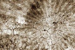 постаретая треснутая стена sunburst Стоковые Изображения RF