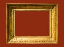постаретое изображение фото рамки золотистое Стоковое Изображение