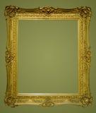 постаретое изображение фото рамки золотистое Стоковые Изображения