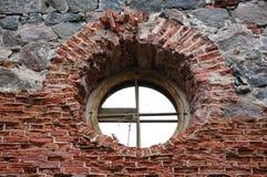 постаретое окно Стоковые Изображения