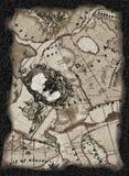 постаретое сокровище карты Стоковое Фото