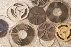 Постаретые винтажные супер 8 фильма mm предпосылки вьюрков Стоковое фото RF