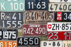 Постаретые номерные знаки Стоковые Изображения
