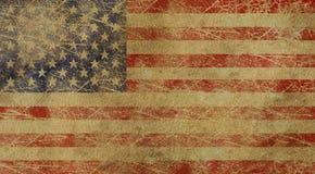 постаретый американский флаг США Стоковое фото RF