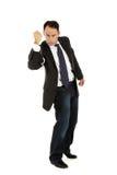 постаретый бизнесмен надевает наручники середина Стоковые Изображения RF
