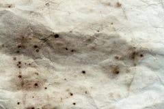 Постаретый грубый бумажный лист, грязь пятнает, пятна, морщинка, предпосылка года сбора винограда grunge стоковое изображение rf