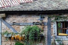 Постаретый каменный коттедж Стоковое Изображение