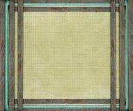 постаретый металл холстины штанг голубой ржавый Стоковые Фотографии RF