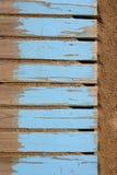постаретый песок пола пляжа голубой деревянный Стоковые Изображения