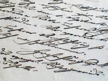 постаретый сценарий письма старый Стоковая Фотография RF