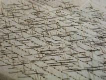 постаретый сценарий письма старый Стоковые Изображения RF