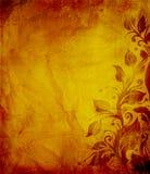 постаретый текстурированный плакат grunge Стоковое Изображение RF