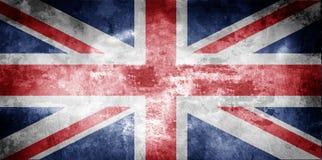 постаретый флаг Великобритания Стоковое Изображение RF