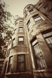 постаретый brownstone boston Стоковые Фото