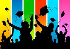 постдипломные счастливые студенты Стоковая Фотография RF